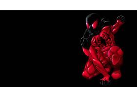 漫画壁纸,红衣,蜘蛛,壁纸