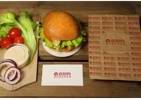汉堡沙拉外卖点餐VI名片样机