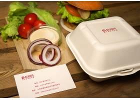 汉堡沙拉外卖包装VI名片样机