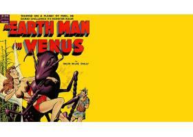 漫画壁纸,一,地球,男人,在,维纳斯,壁纸