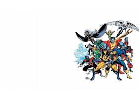漫画壁纸,x战警,巨人,天使,蓝魔人,金刚狼,独眼巨人,壁纸