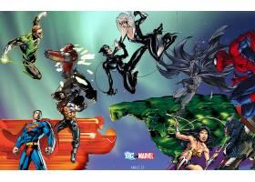 漫画壁纸,哥伦比亚特区,vs .,奇迹,绿色的,灯笼,超人,金刚狼,熨斗