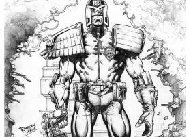 漫画壁纸,法官,Dredd,壁纸