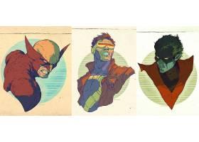 漫画壁纸,x战警,金刚狼,独眼巨人,蓝魔人,壁纸