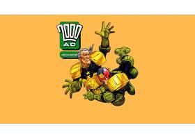 漫画壁纸,2000,广告,法官,Dredd,壁纸(1)