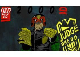 漫画壁纸,2000,广告,法官,Dredd,壁纸