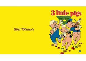漫画壁纸,3,小的,猪,壁纸