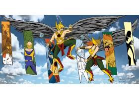 漫画壁纸,霍克曼,鹰派女孩,壁纸