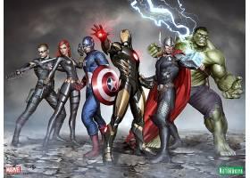 漫画壁纸,这,复仇者联盟,鹰眼,黑色,寡妇,船长,美国,熨斗,男人,托