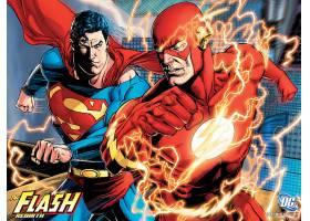 漫画壁纸,闪光,超级英雄,超人,壁纸