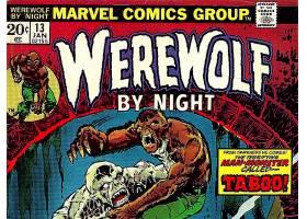 漫画壁纸,狼人,经过,夜晚,壁纸