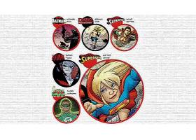漫画壁纸,拼贴,勤务兵,Kamandi,超人,木桩或水泥桩,绿色的,灯笼,