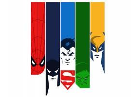 漫画壁纸,拼贴,蜘蛛侠,勤务兵,超人,赫然显现,金刚狼,壁纸