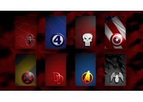 漫画壁纸,拼贴,蜘蛛侠,极好的,四,惩罚者,x战警,冒失鬼,复仇者联
