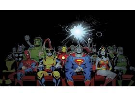 漫画壁纸,拼贴,赫然显现,蜘蛛侠,金刚狼,超人,熨斗,男人,奇迹,妇