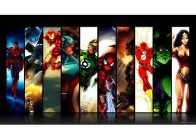 漫画壁纸,拼贴,超人,勤务兵,熨斗,男人,船长,美国,绿色的,灯笼,蜘
