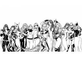 漫画壁纸,拼贴,黑色,寡妇,女猎手,看不见的,妇女,她-浩克,女士,奇