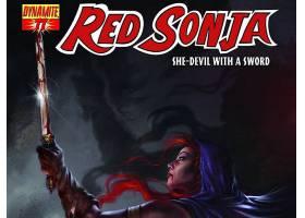 漫画壁纸,红色,Sonja,壁纸(1)