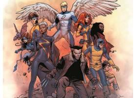 漫画壁纸,x战警,金色的,x战警,金刚狼,独眼巨人,天使,壁纸