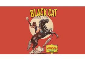 漫画壁纸,黑色,猫,壁纸(5)