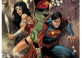 漫画壁纸,公正,联盟,关于,美国,奇迹,妇女,超人,壁纸