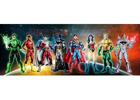 漫画壁纸,公正,联盟,超级英雄,绿色的,灯笼,闪光,勤务兵,超人,奇