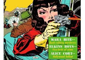 漫画壁纸,匪徒,和,枪,摩尔,壁纸