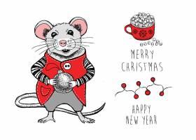 红色卡通老鼠素材