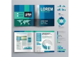 立体图案元素商务画册素材图片