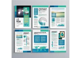 清新绿色商务画册素材图片