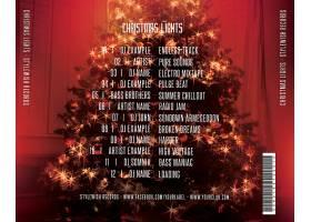 圣诞树灯光美景背景圣诞节海报模板