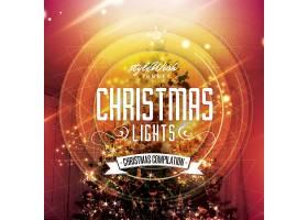 创意金色圣诞树背景圣诞节海报模板