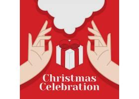 红色卡通圣诞节海报