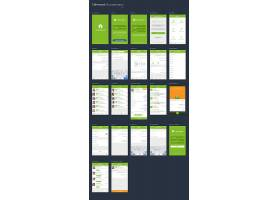 创意绿色手机UI界面背景模板