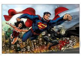 漫画壁纸,超人,奇迹,妇女,勤务兵,绿色的,灯笼,闪光,知更鸟,壁纸