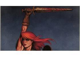 漫画壁纸,红色,Sonja,壁纸(8)