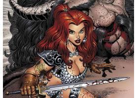 漫画壁纸,红色,Sonja,壁纸(9)