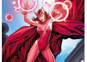 漫画壁纸,红衣,女巫,壁纸