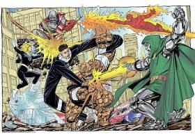 漫画壁纸,极好的,四,先生,极好的,看不见的,妇女,人类,火炬,东西,