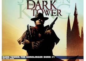 漫画壁纸,黑暗,塔,书,涉及,这,枪手,壁纸