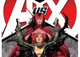 漫画壁纸,复仇者,vs .,x战警,x战警,红衣,女巫,黑色,寡妇,壁纸