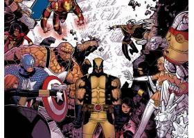 漫画壁纸,复仇者,vs .,x战警,x战警,蜘蛛女,熨斗,男人,托尔,东西,