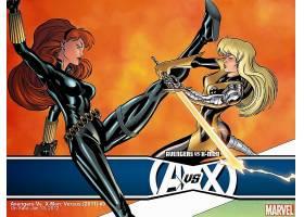 漫画壁纸,复仇者,vs .,x战警,x战警,黑色,寡妇,魔法,奇迹,漫画壁