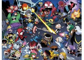 漫画壁纸,复仇者,vs .,x战警,婴儿,x战警,赫然显现,鹰眼,蜘蛛侠,