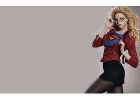 漫画壁纸,超级女声,白皙的,女孩,裙子,连裤袜,眼镜,哥伦比亚特区,