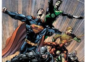 漫画壁纸,公正,联盟,关于,美国,绿色的,灯笼,超人,勤务兵,闪光,Aq