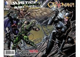 漫画壁纸,公正,联盟,关于,美国,绿色的,箭,神谕,猫女,壁纸
