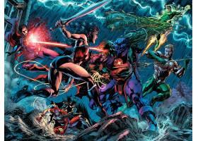 漫画壁纸,公正,联盟,关于,美国,超人,奇迹,妇女,闪光,Aquaman,绿