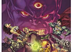 漫画壁纸,公正,联盟,勤务兵,奇迹,妇女,Aquaman,超人,哥伦比亚特