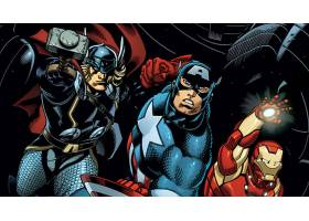 漫画壁纸,复仇者联盟,这,复仇者联盟,托尔,船长,美国,熨斗,男人,